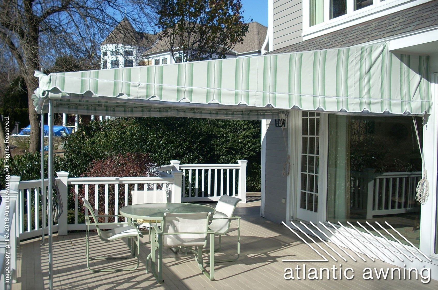 Stationary, Free Standing Patio & Deck Awnings ...