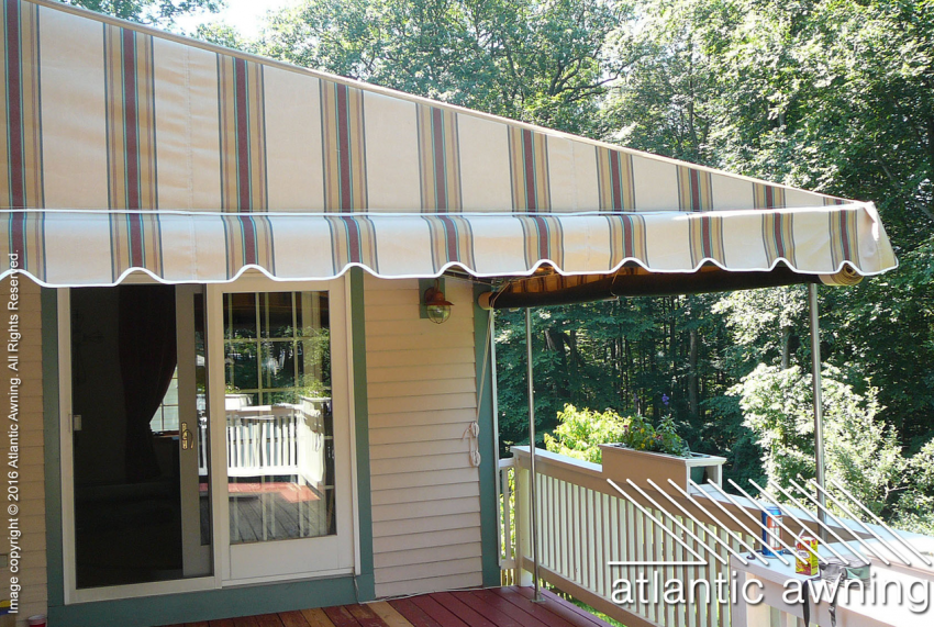 Stationary Free Standing Patio Deck Awnings Commercial And